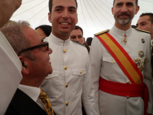 Joaquin Taboada junto a SM el Rey